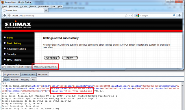 Edimax - URL Redirection - 01