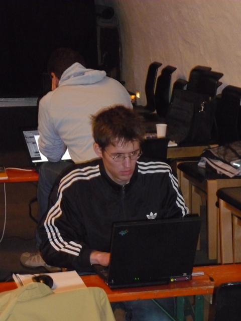 Backtrack Day 2009 - smtx kurz vor seinem DECT Vortrag