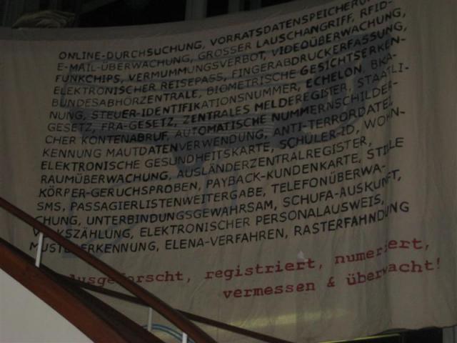 Demo gegen Überwachung, Bundestrojaner, Vorratsdatenspeicherung, ... 07