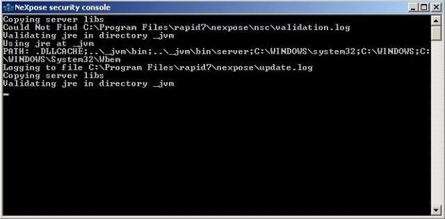 Erster Start von NeXpose auf Windows Server 2003 - 01