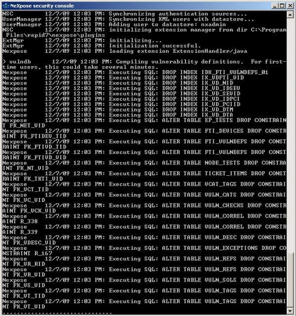 Erster Start von NeXpose auf Windows Server 2003 - 02