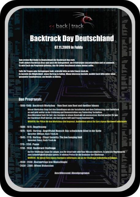 Backtrack Day 2009 in Fulda