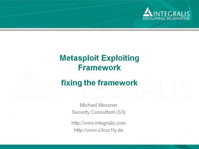 Metasploit - fixing the framework
