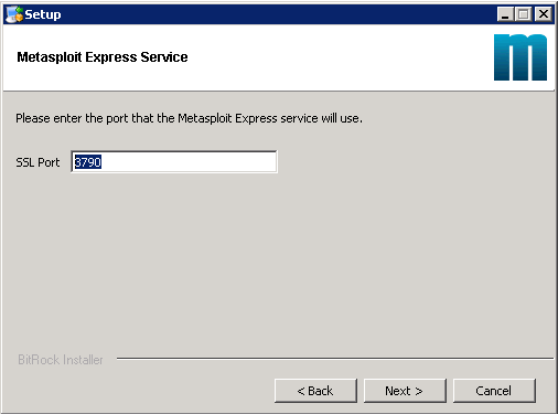 Metasploit Express beta - Installation 04