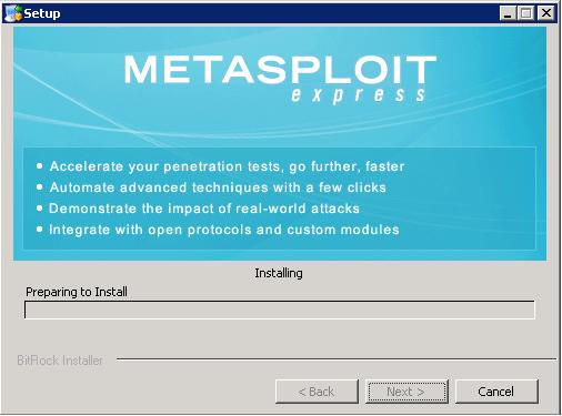 Metasploit Express beta - Installation 08