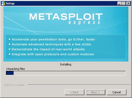 Metasploit Express beta - Installation 09