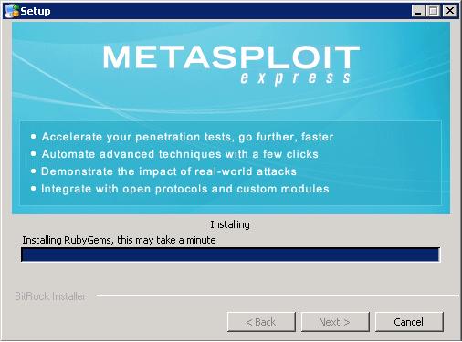 Metasploit Express beta - Installation 10