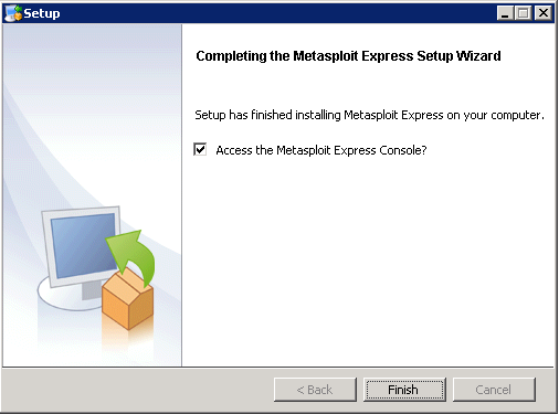Metasploit Express beta - Installation 11