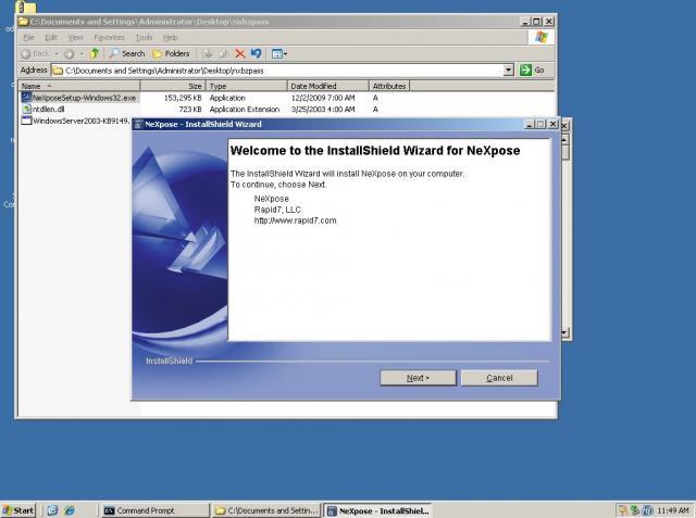 NeXpose Installation auf Windows Server 2003 - 01