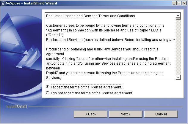 NeXpose Installation auf Windows Server 2003 - 02
