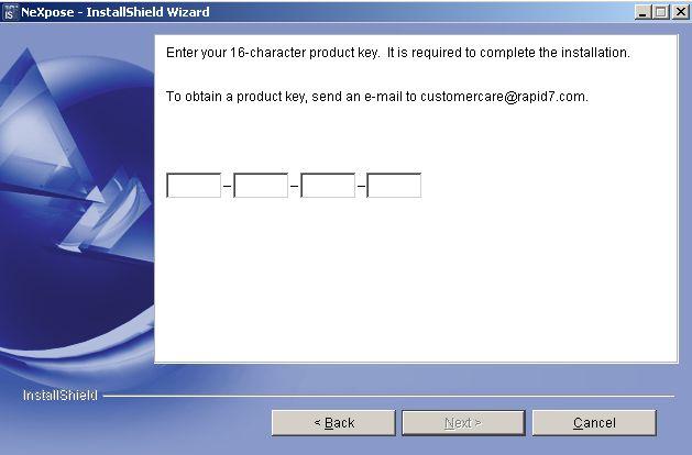 NeXpose Installation auf Windows Server 2003 - 05