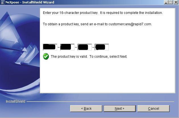 NeXpose Installation auf Windows Server 2003 - 06