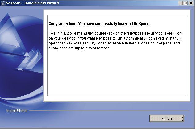 NeXpose Installation auf Windows Server 2003 - 11