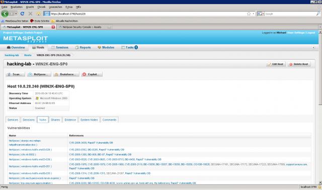 Metasploit Express beta - NeXpose 03